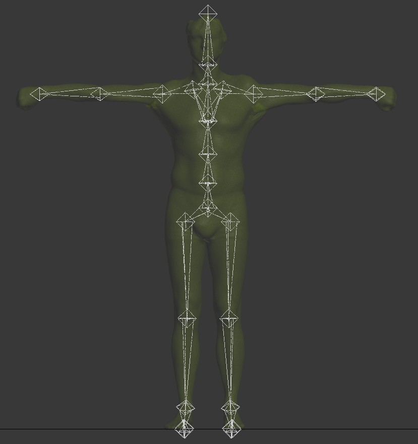 A rig which has been created automatically