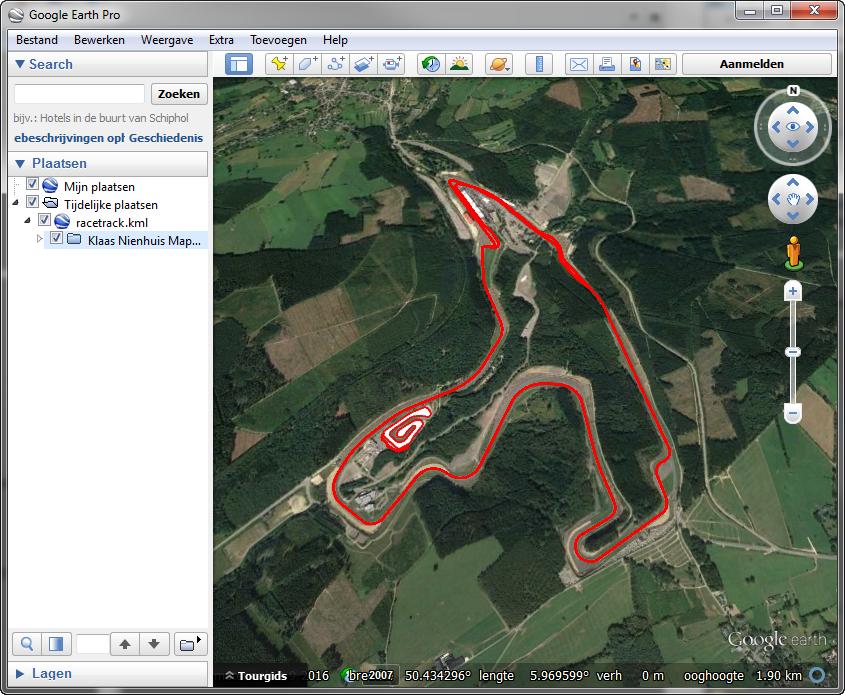 KML racetrack
